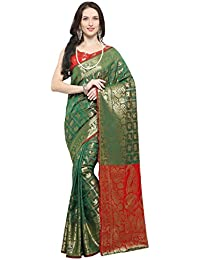 6ab4ac7e70244c EthnicJunction Art Silk Saree with Blouse Piece (EJ1175-1001X_Green_Free  Size)