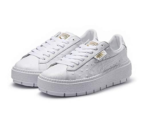 Puma Platform Trace Ostrich - Zapatos con Cordón Mujer Blanco Talla 39