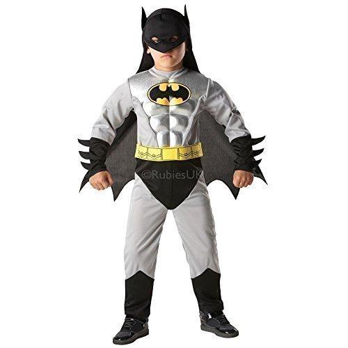 Rubies - Jungen Batman Kostüm - grau - schwarz, M / 110-116