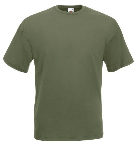 Fruit of the Loom - Classic T-Shirt \'Value Weight\' L,Classic Olive