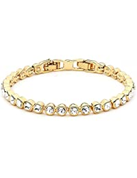 My Jewellery Story Ginger Bangle with Swarovski Crystals Rose Gold Plated 2ELTZRJ