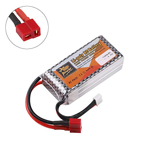 ZOP Power 1500mAh 11.1V 3S LiPo Battery 40C T Plug For RC Car Airplane HelicopterSpecification:Product type: Rechargeable lithium polymer batteryBattery capacity: 1500MAhVoltage: 11.1vContinuous discharge rate: 40C Burst60CBattery size: 7.1 * 3.6 * 2...