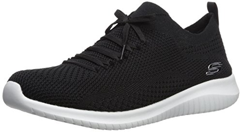 Skechers Ultra Flex Statements, Scarpe da Ginnastica Donna, Nero (Black/White BKW), 39 EU