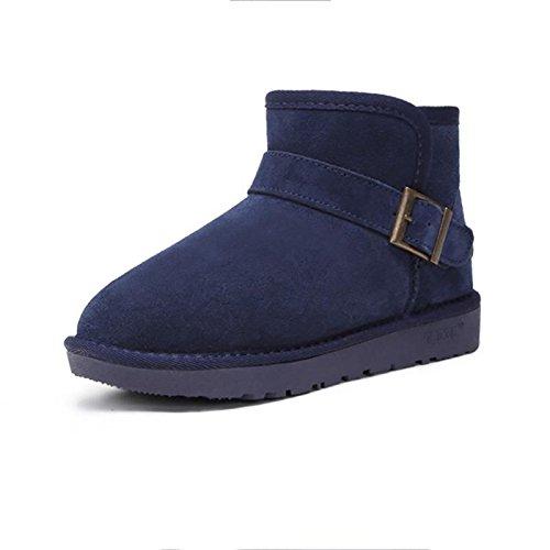 Stivali da neve a tubo corto da donna Antiscivolo caldo e traspirante Scarpe piatte all'aperto , 40 , blue BLUE-42