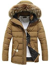 Amazon.it  piumino con pelliccia uomo - Giacche e cappotti   Uomo ... 26c8d17b391