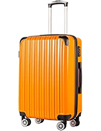 COOLIFE Expandable Suitcase(Only 28in Expandable) Luggage PC+ABS Material with TSA Lock and 4 Spinner Wheels