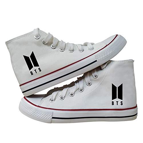 URMOSTIN Unisex BTS Sneaker Casuale Scarpe di Tela Tennis Running Walking Sportive Sneakers High-Top Scarpe da Ragazzo e Ragazze Traspirante Scarpe da Ginnastica per Bambini