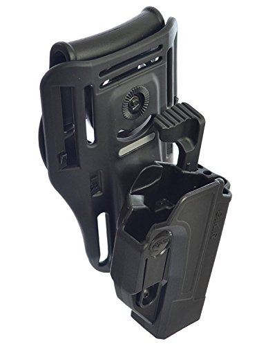 ORPAZ Defense Lowride Gürtelaufsatz + Taktisch verstellbar Pistole Holster Active Retention Mit Thumb Release Sicherheit für Alle Smith & Wesson S&W M&P 9mm, .40cal, .22cal & .45cal, M&P M2.0 in 9mm, .40cal & .45cal, SD9, SD40, SD9VE (And Ve Holster Wesson-sd40 Smith)