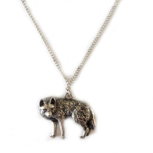Lobo de plata del collar de la manera pendiente animal encantador encanto del hombre lobo