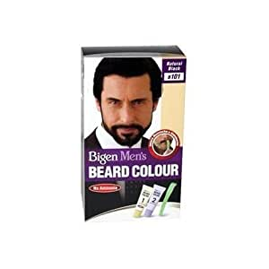 BIGEN MEN\'S BEARD COLOUR B101 NATURAL BLACK (NO AMMONIA): Amazon ...
