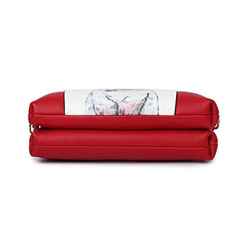 Ms. Messenger Bag Umhängetasche Schalentasche Druck Painting Red