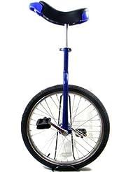 """Bleu 20 """"Monocycle Avec roue Plaqué Chrome (Blue Unicycle)"""