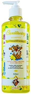 Robust Dog/Cat Conditioning Shampoo ( With Jojoba Oil & Lemon Extract) : 500 Ml