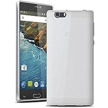 Vabneer FUNDA DE GEL SILICONA caso para Elephone M2 5.5 Pulgada Protectora Caja TPU Flexible Cáscara transparente blanco