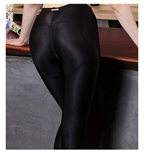 HWQ Body Shaping Pantaloni Corpo, liposuzione Body Shaping Pantaloni Hip, Collant a Compressione, Body Shaping + Addome, Cerniera Open File Design, Facile Riabilitazione postoperatoria,Black,S