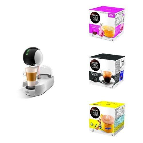 NESCAFÉ DOLCE GUSTO Genio 2 EDG.465.B + 96 capsule Espresso Intenso + 48 capsule Nesquik (60€ di sconto)