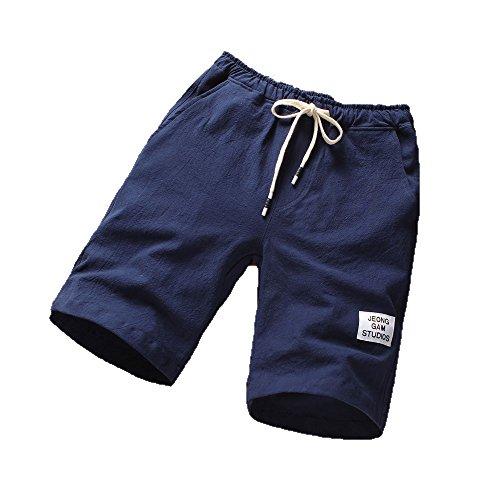 Herren Shorts Sommer, UFODB Männer Sport Kurze Hose Hosen Outdoor Casual Jogger Classic Fit Sommershorts Elastische Taille Strandhosen Badehose -