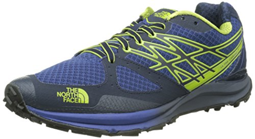 The North Face M Ultra Cardiac, Zapatillas de Running para Hombre, Azul (Cosmic Blue / Macaw Green), 42 EU