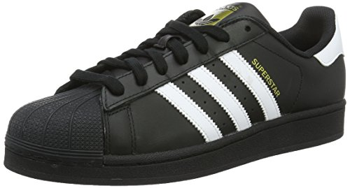 Adidas Superstar Foundation, Sneakers Unisex Adulti, Nero (Cblack/Ftwwht/Cblack), 44 2/3