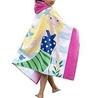 Comfysail Kids Hooded Beach Bath Towel 100% Cotton Super Soft Childrens Towel Swimming Girls Boys