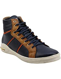 Smoky Brown & Blue Coloured Casual Sneakers For Men