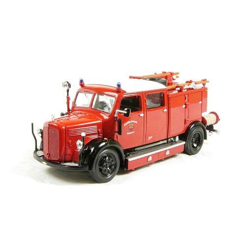 Lucky Die Cast 1950 Mercedes Benz TLF-15 43013, Feuerwehr, 1:43 Die Cast