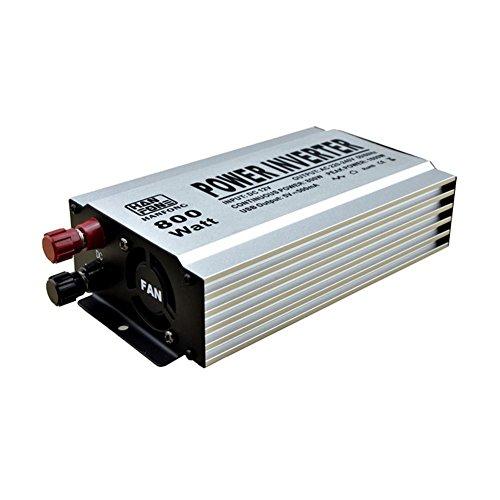 MTTLS Spannungswandler Auto Power Inverter 800W DC 12V bis AC 220V Stromrichter Wechselrichter Stromversorgung (Silber) 800w 800 Watt Power Inverter