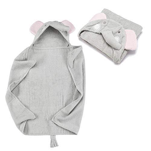 Kapuzenhandtuch Kapuzentuch aus 100% Frottee Baumwolle - Baby-Badetuch mit Kapuze - Öko-Tex 100; Elefant ()