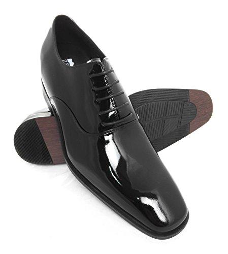ZERIMAR Scarpe con aumentato interno di 7 cm ¡ATTENZIONE OFFERTA SPECIALE 7,5 ANNIVERSARIO! Stile elegante Realizzata in pelle di alta qualità 100% pelle Colore Nero Nero