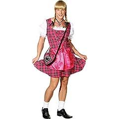 Idea Regalo - Sexy dirndl per uomini rosa Vestito alla tirolese maschi S 46/48 - Abito da ragazzina per uomo Travestimento da donna per sesso maschile Costume scherzoso per uomini ballerini Veste tradizionale per ragazzi addio al celibato