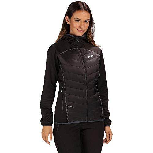 Regatta Damen Andreson Iv Lightweight Insulated And Water Repellent Hybrid Down Jacke, Schwarz, 42 EU (Herstellergröße: 16)