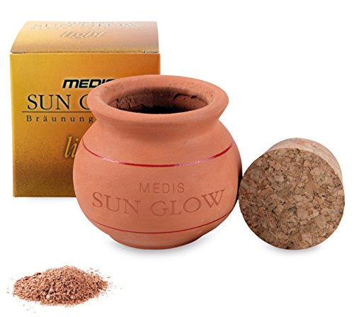 Medis Sun Glow Bräunungspuder im Tontopf, 15 g, heller Farbton