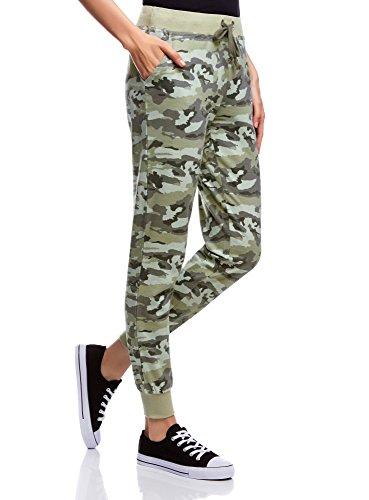 oodji Ultra Donna Pantaloni Stampa Militare Verde (6025O)