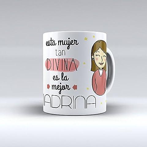 Taza cerámica desayuno regalo original cumpleaños madrina