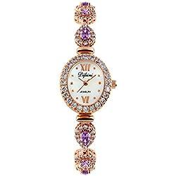 Fashion diamond women watch/Waterproof quartz Bracelet Watch/Simple casual watches-F