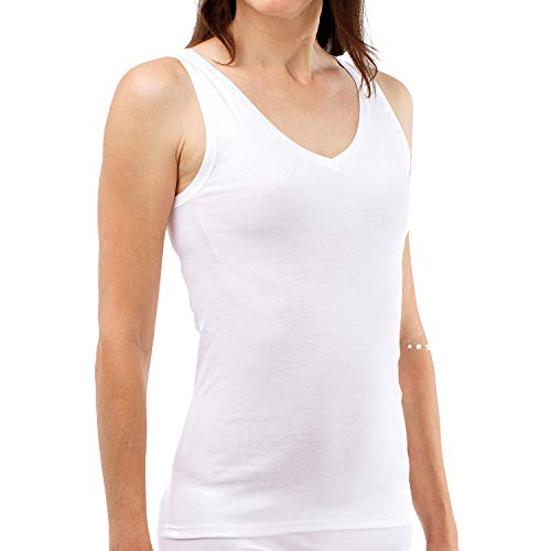 SCHÖLLER Damen Achselhemd I 3er Pack I Damen Unterhemd I 51010-44-500 I Größe 48 I Farbe Weiß