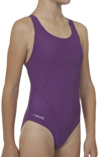 Designer Mädchen Badeanzug, Schwimmanzug Schwimmen, lila (146-158 cm /11-12 Jahre)