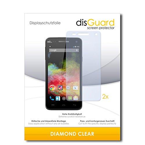 2 x disGuard® Bildschirmschutzfolie Wiko Rainbow 4G Schutzfolie Folie
