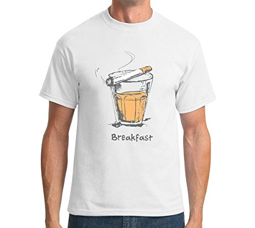 The Souled Store Chai Sutta Food Printed WHITE Cotton T-shirt for Men Women and Girls