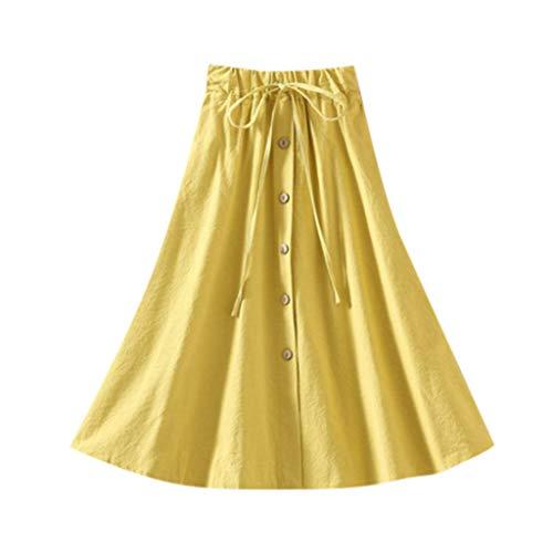 Amphia - Damen Swing Röcke,Der elastische Rock der hohen Taille der Frauen weiblicher Wilder Loser Normallack