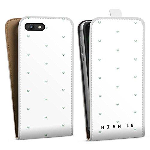 Apple iPhone X Silikon Hülle Case Schutzhülle HIEN LE Fashion Mode Downflip Tasche weiß