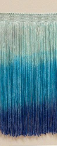11Yard Value Pack 30,5cm Dip gefärbt Chainette Fransen Rand, Stil # CF12Farbe: Tie Dye Blau–TDD (33Fuß/10m)