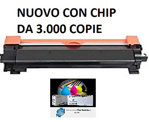 NEW Universocartuccia TN-2420 CON CHIP compatible for Brother HL-L2310D/L2350DN/L2370DN/L2375DW, DCP-L2510D/L2530DW/L2550DN,MFC-L2710DN/L2730DW/ L2750DW DA 3.000 COPIE