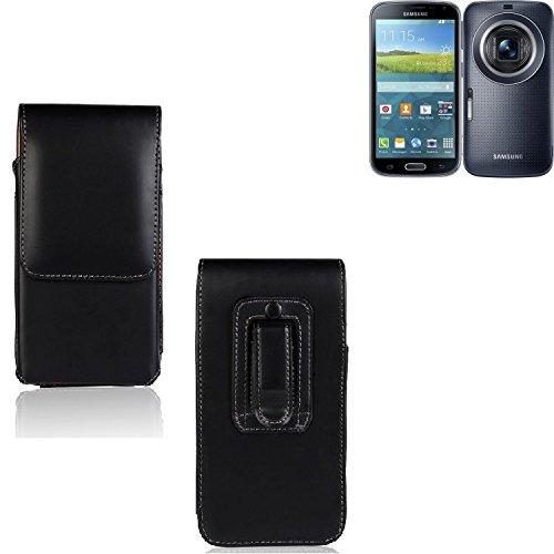 K-S-Trade Für Samsung Galaxy K Zoom LTE Gürtel Tasche Gürteltasche Schutzhülle Handy Tasche Schutz Hülle Handytasche Smartphone Case Seitentasche Vertikaltasche Etui Belt Bag schwarz für SAMS