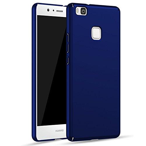 Cover huawei p9 lite, ucmda [ultra slim] [hard silky] [scrub shell] [piena protezione] rigida custodia cover per huawei p9 lite smartphone 5.2 pollici - blu