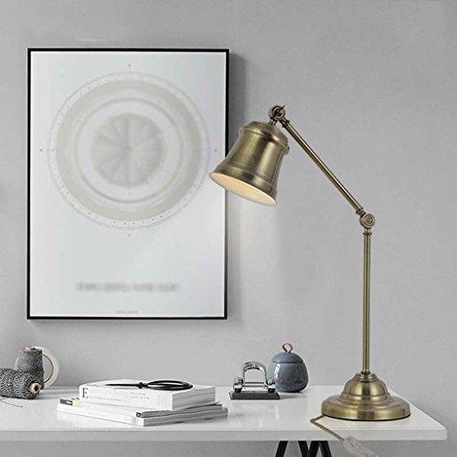QFF Illuminazione americano Retro Soggiorno Camera da letto decorativo della lampada di lettura lampade da (Vecchio Bronzo 2 Lampadina)