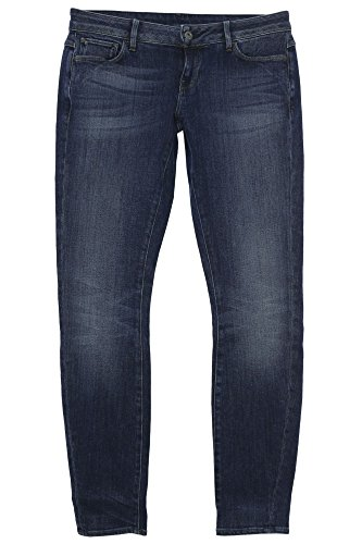 G-STAR RAW Damen 3301 Deconstructed Low Waist Skinny Jeans, Blau (medium Aged 8591-071), 30W / 30L -