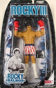 Balboa Vs Clubber Lang Rematch Action Figure in Stars and Stripes Red White and Blue USA Shorts by Jakks Pacific ()