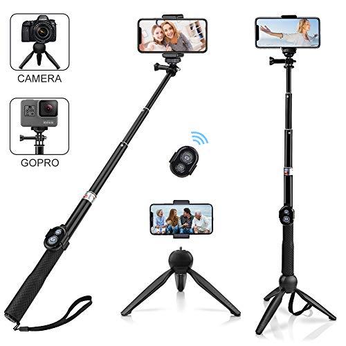 ck Stativ, Alfort Universal Smartphone Stativ Selfie Stab Stange mit Bluetooth Fernsteuerung und Abnehmbares Stativ für iPhone Samsung und andere Smartphones/GOPRO / DLSR Kamera ()
