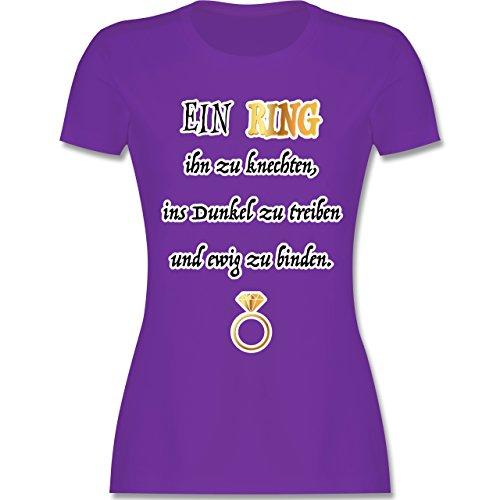 Shirtracer JGA Junggesellinnenabschied - ein Ring. JGA - Damen T-Shirt Rundhals Lila